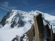 la cresta dalla vetta della Midi