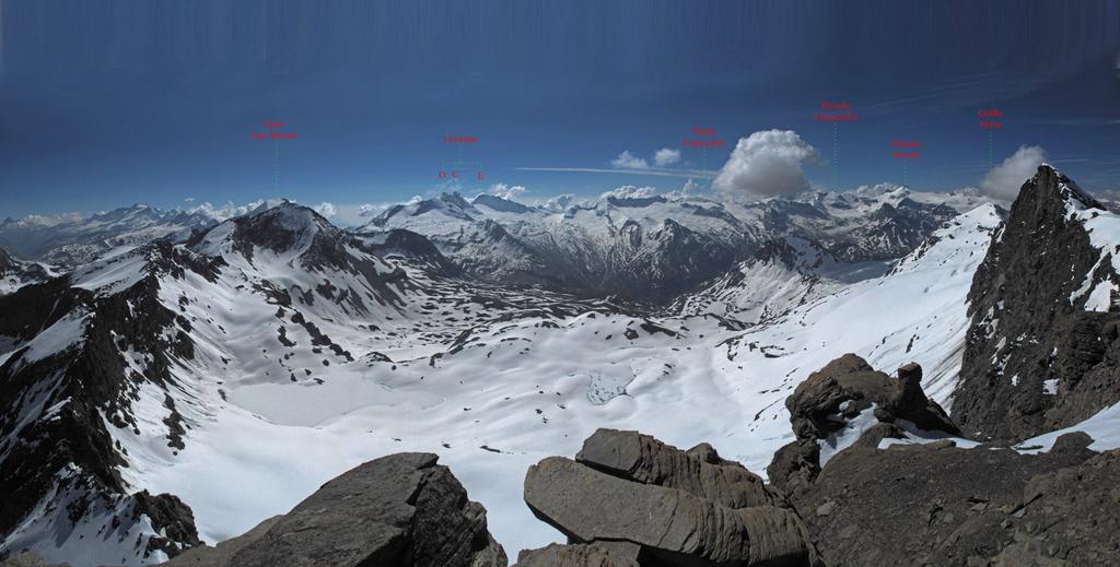 Panorama dalla Gran Aiguille Rousse all'Albaron
