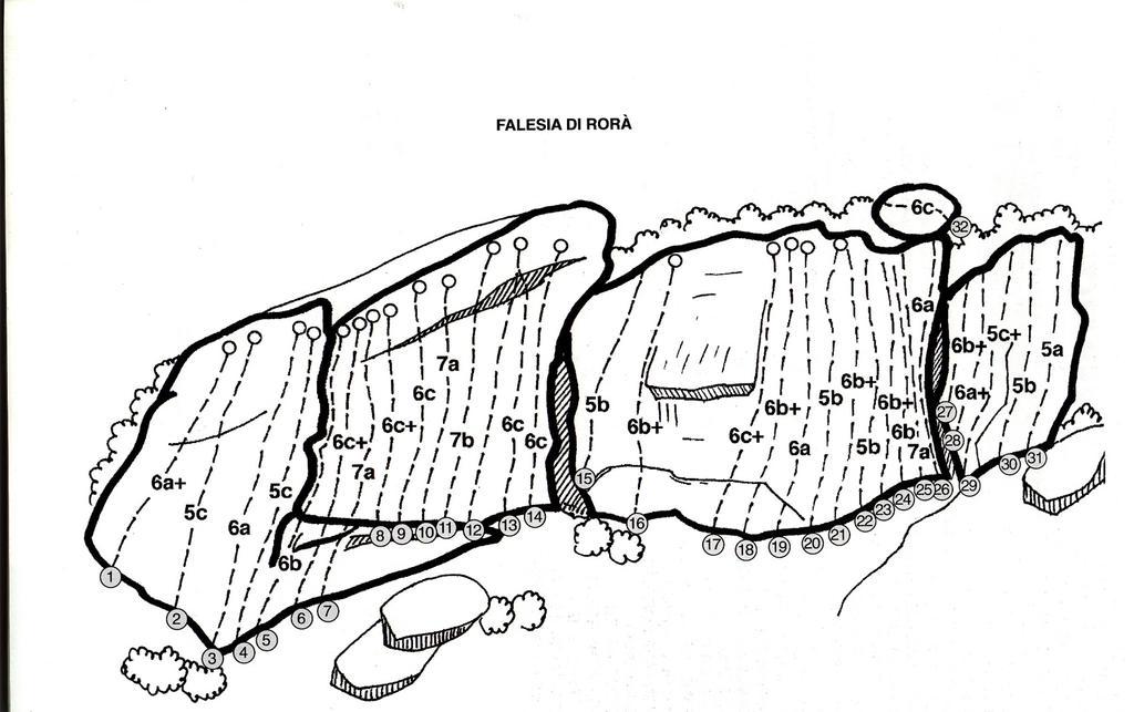 LA FALESIA  (dalla guida passaggio a nordovest di Oviglia e Michelin)