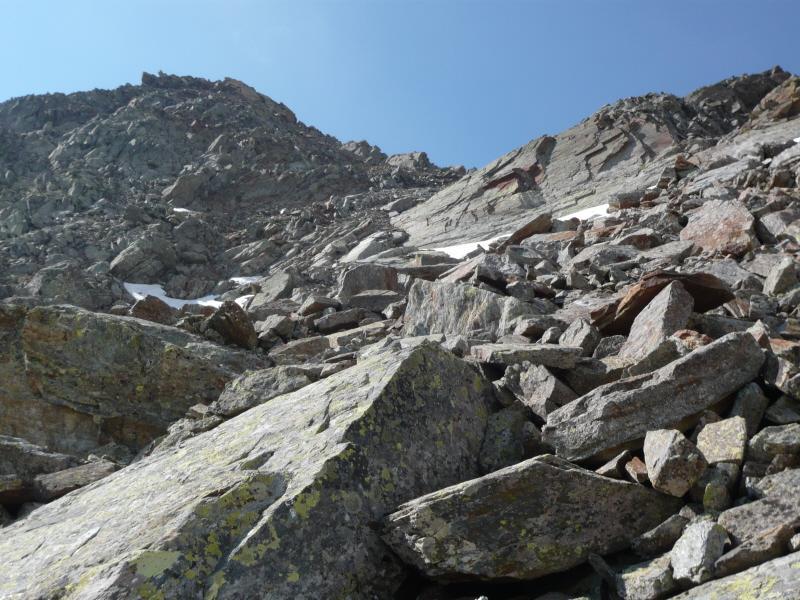 punta rossa e colle valletta dal versante di salita