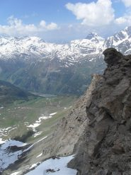 panorama sul versante diga Valgrisanche