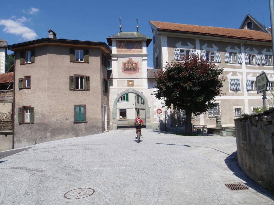 Ilanz ingresso centro storico