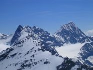 Sulla dx il Gran Zebrù visto dalla cima della Punta degli Spiriti