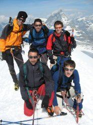 Foto di gruppo in vetta al Breithorn W