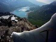 il lago viso dalla cresta