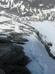 La cresta Ovest-Sud-Ovest della P. d'Arnas