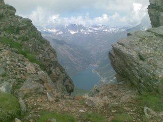 Lago di Ceresole dal tratto terminale della salita alla Cima della Crocetta