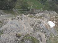 il passaggio roccioso a metà cresta