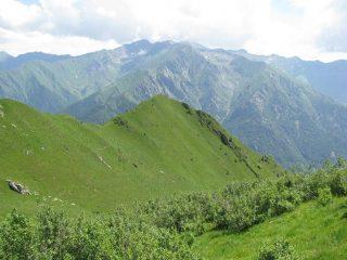 La Punta del Sionei vista dal sentiero del Ciavanis