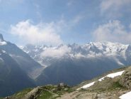 Il panorama dallo Chalet du Lac Blanc