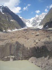 L'imponenza del ghiacciaio-morena