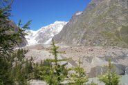 Il fronte del ghiacciaio Miage