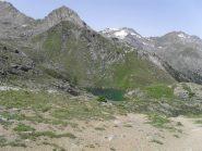 il lago dal punto piu' alto verso il vallone di Bardoney