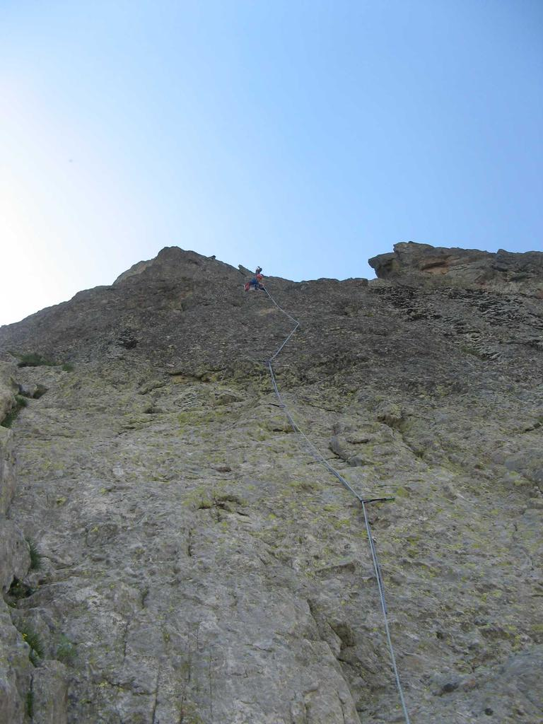 La parete dei primi tre tiri.