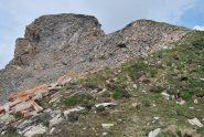 La vetta del Mt. Ouille con l'ultimo tratto più delicato