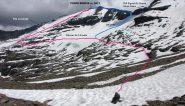 la parte alta dell'itinerario che si segue per la salita alla Roncia (11-7-2010)