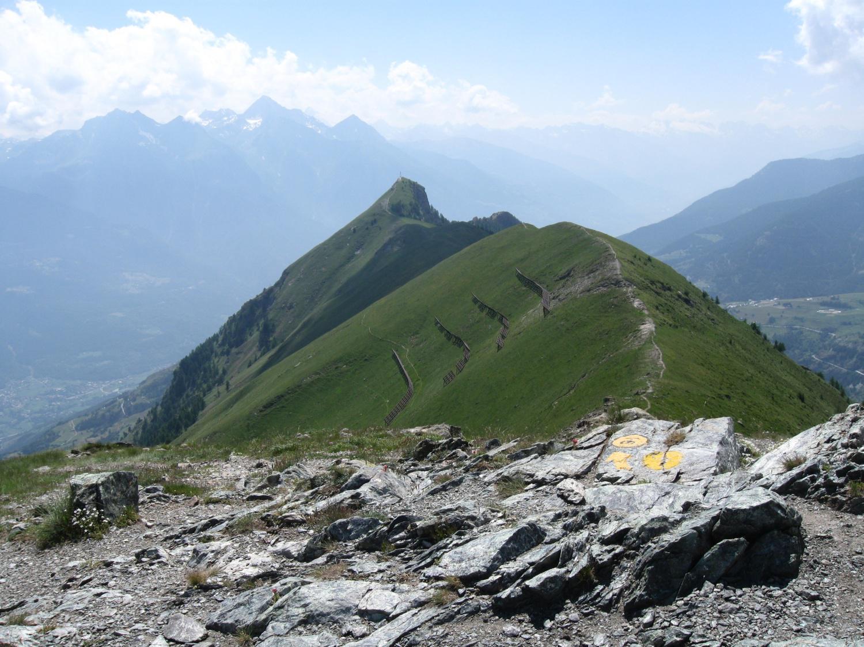 il proseguimento della cresta verso la Cima Longhede