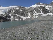 il magnifico lago Goletta,sotto la Traversiere