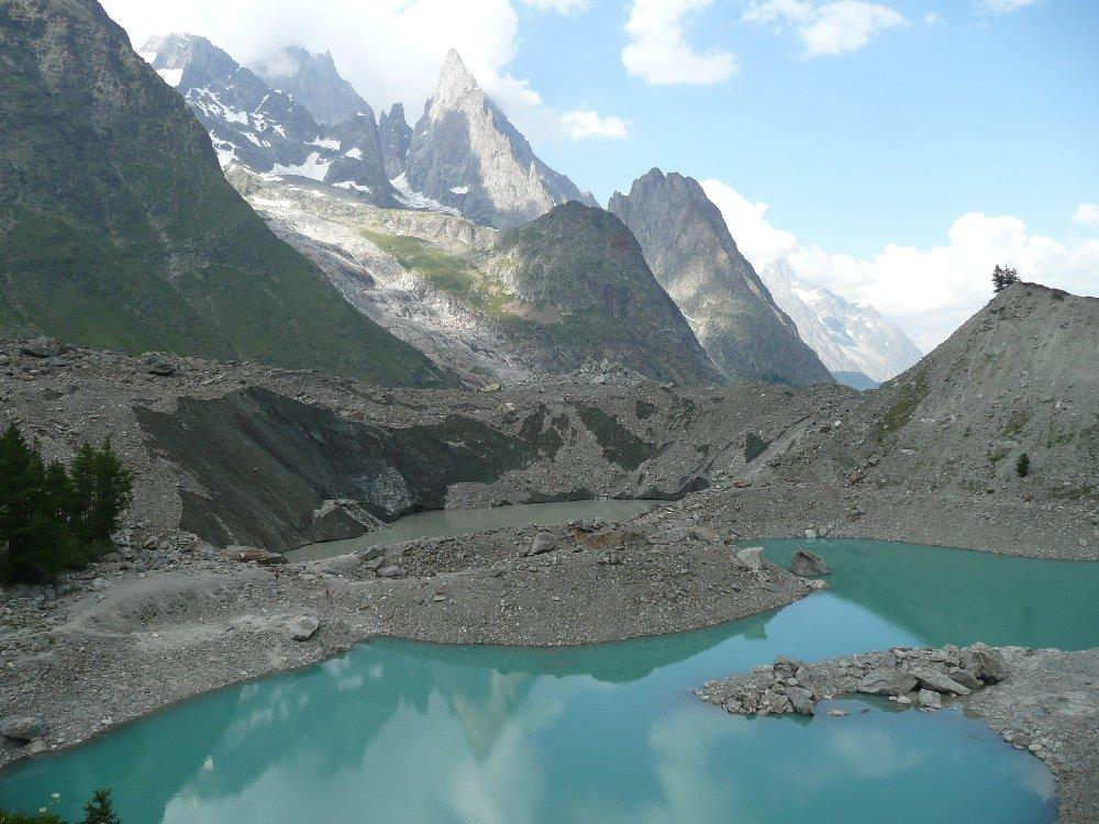 Lago in fondo al ghiacciaio