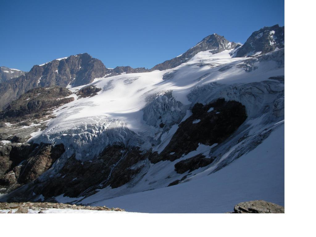Il ghiacciaio delle Grand Murailles dalla Petit Tete di Bellatsa'