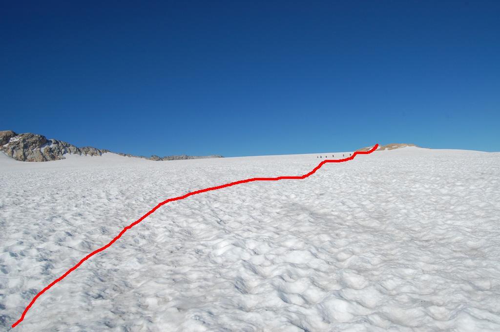sul glacier de la rochette