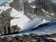 Punta Kurz e la cresta visti dal Mont Brulè