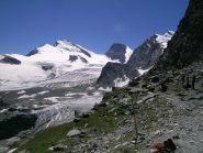 Dalla Britanni Hutte Strahlhorn, Rimpfischhorn e Allalinhorn