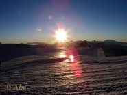 Arrivo del sole al Col de la Brenva