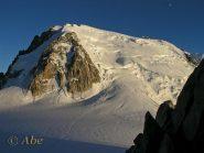 Mont Blanc du Tacul al tramonto