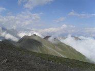 la cresta che conduce alla punta Monpers