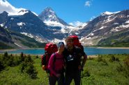 Mt. Assiniboine e Lake Magog ... e due turisti