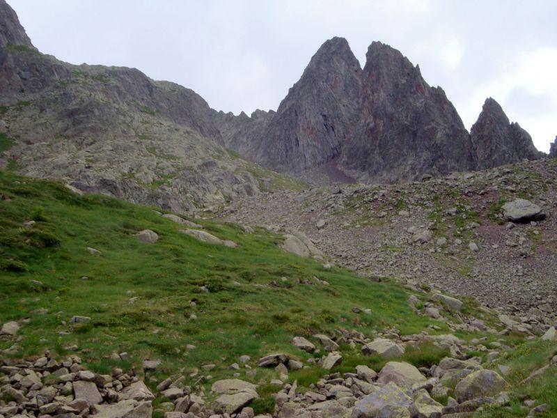 Val A'ota verso cima di Cece