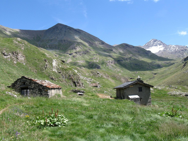 Alpe Pralognan (2417 m). Sullo sfondo a destra la Punta Tersiva
