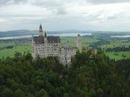 Cast di Neuschwanstein dall'alto