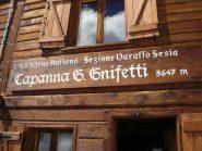 L'ospitalissimo rifugio Gnifetti dove abbiamo pernottato.