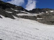 Attraversamento senza problemi del glacio-nevaio
