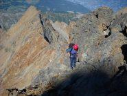 La cresta del Monte Rosso vista dal pendio finale