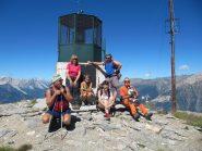 Gruppo al faro degli alpini
