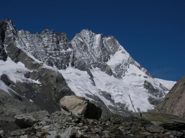 Il Lauteraarhorn dall'Unteraargletscher