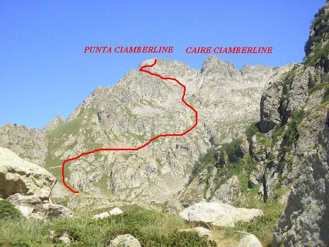la Punta ed il Caire Ciamberline divisi dall'omonima Forcella
