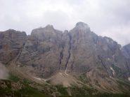 la parete del Mulàz