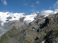 breithorn  roccia nera polluce castore dalla cima