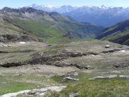 panorama dalla nostra posizione vicino ai laghetti