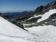 Dal colle, panorama verso sud con Monviso
