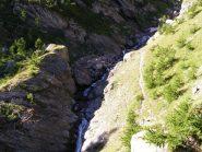 Punto in cui attraversare il rio