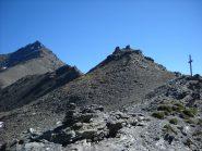 La cresta e la vetta dal colle della Pelouse