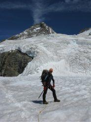 sul ghiacciaio verso il Perelli