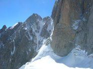 Punta Baretti, Monte Brouillard, Col Emile Rey e Pilastro Rosso dal Bivacco Crippa