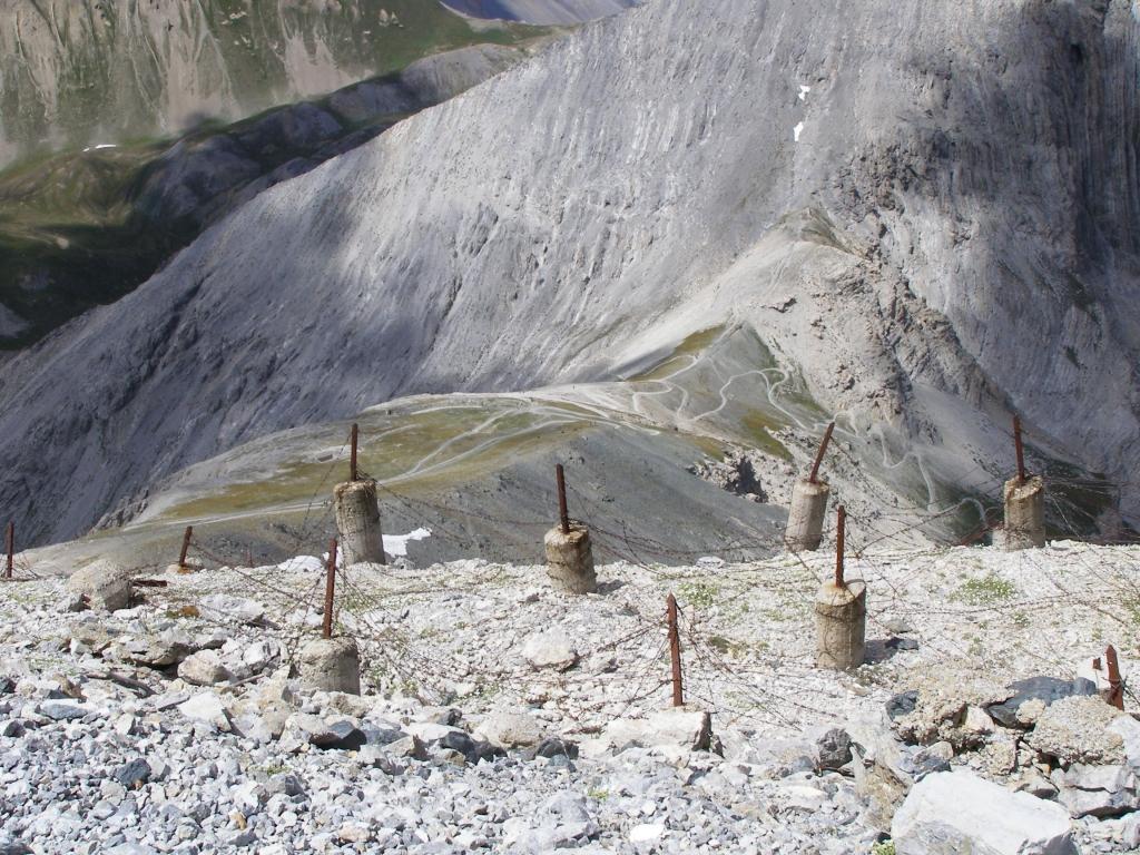Parte del percorso visto dall'alto