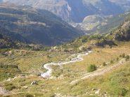 11 - Pianoro dell'Alpage du Glacier e La Thuile sul fondovalle